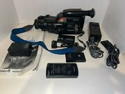 Sony Handycam Video 8 Ccd F201 Lots Of Extras As Is / Parts / Repair / Prop