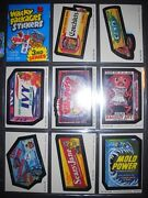 1979 3rd Ser. Wacky Packages Complete Sticker Set And Wrapper Topps Razor Mint