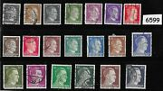 Third Reich Germany Stamp Set Adolph Hitler 20 Different 1941 - 1944 Stamps
