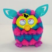 Hasbro Furby Boom Blue Pink Black Triangles Talking Interactive Pet Toy 2012