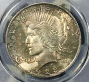 1923 Peace Silver Dollar Pcgs Ms63 Nice Collector Coin.free Shipping