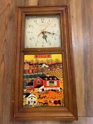 Time To Relax Clock By Charles Wysocki Fall Butternut Farms Clock