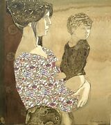 Shelly Terman Canton Painting Of A Mother And Child - Chicago Artist