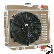 4 Row Radiator Andshroud Andfan For Ford 1967 68 69 1970 Mustang / Mercury Cougar V8