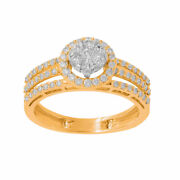 0.71ct Natural Diamond Engagement Ring For Woman 14kt Yellow Gold Fine Jewellry