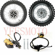 60/100-14 Front And 80/100-12 Rear Wheel Rim Tires Motocross / Off Road Yz65 Kx Sx
