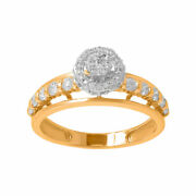 0.67ct Natural Diamond Engagement Ring For Woman 14kt Yellow Gold Fine Jewellry