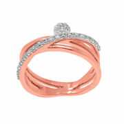 0.347ct Natural Diamond Engagement Ring For Woman 14kt Rose Gold Fine Jewellry