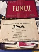 1938 Flinch Card Game By Parker Brothers Vintage New Edition Damaged Box