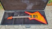 Blakhart Hex 6 Vc Electric Guitar Flame Blood Orange With Case