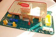Antique Toy Automobile Service Center. Spectacular Art Work. Approx 1958-1960