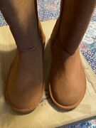 Womens Ugg Triple Bailey Button Boots Chestnut New In Box Size 9