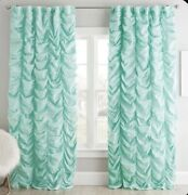 Pottery Barn Teen Ruched Blackout Drape Curtain 84 Pool New Turquoise Sold Out