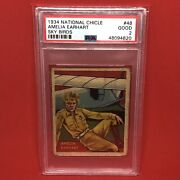 1934 National Chicle 48 Amelia Earhart Psa 2 Rookie Rc 1st Card