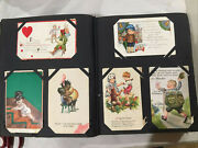 Vintage Postcard Album With 229 Postcards All Over 100 Years Old