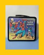 Stan Lee Signed Extremely Rare Marvel Comics Super Heroes 1976 Lunch Box Coa