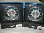 Stewart Warner Green Line Electric 530dh Speedo And 531cc Tach 3 3/8 Pair Only