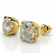 Luxury Classic 2.00 Ctw Si2 G 100 Conflict Free Diamond Studs Set In 14k Gold