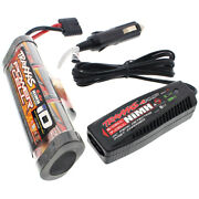 Traxxas 1/10 Craniac 2wd 3000 Mah Nimh 8.4v Id Battery And 4 Amp Car Charger