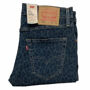 Leviand039s Performance Menand039s 512 Slim Taper Cooling Jeans Stretch And039mango Cheetahand039