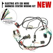 For 50cc 70cc 90cc 110cc Electric Atv Cdi Wire Harness Stator Wiring Kit One Set