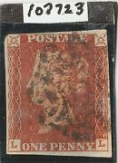 1841 Penny Red Spec Bs1tal Plate 12 Ll Wotton Under Edge Mx With Certifica