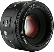 Yongnuo Yn50mm F/1.8 Af/mf Auto Focus Prime Lens For Ef Mount Canon Camera