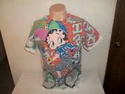 Vtg 1993 King Features Biking With Betty Boop 2 Sided Freeze Hip Hop T-shirt M/l