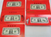 2001 / 2003 Usa 1 Lucky Money And Prosperity 5 Uncirculated Note's 8888