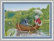 Counted Cross Stitch Kit Mp Studio Pk-505 - We Rode On A Boat
