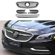 Silver Front Center Mesh Grille Grill Cover Trim 4pcs For Buick Lacrosse 16-2019