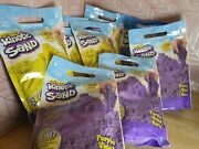 Lot Of 8 Brand New Sealed Kinetic Sand Purple And Yellow Sand 2lb Bags=16lbs Total