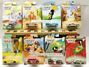 2018 Hot Wheels Looney Tunes Series Complete Set Of 8 Vhtf See Card Cond