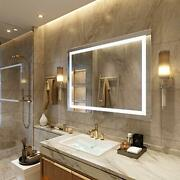 Led Lighted Bathroom Mirrorswall Mounted White Light 48x36inch