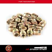 24 Piece Fits Chevy Gmc Gm Factory Style Lugs   14x1.5 Gold Open End Lugs Nuts
