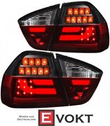 Led Lightbar Taillights Set For Bmw 3 Series E90 Years 05-08 Red Smoke Tinted
