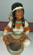 Universal Statuary Corp. Chicago 1976 Native America Girl With Baby