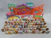 Littlest Pet Shop 86 Figure And Playset Lot Accessories Clubhouse Bakery Lagoon