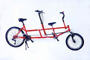 Kidztandem Adult And Child Tandem Bicycle Red
