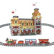 In Stock Train And Station Model Building Blocks With 71044 Bricks Gifts
