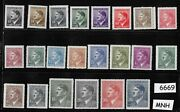 6669andnbspcomplete Mnh Stamp Set Adolph Hitler Czechoslovakia German Occupation Wwii