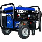 Duromax Xp5500e Gas Powered Portable Generator, Blue And Black