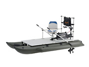 Aquos New 11.5ft Pontoon Boatandguardbarandseatandtransom 110lbs Motor