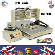 Usb Port 6090 Cnc Router Engraver 4 Axis Engraving Milling Machine 1500w+rc