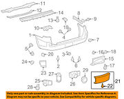 Toyota Oem Land Cruiser Rear Bumper-access Or Tow Hitch Cover Panel 5216960070a0