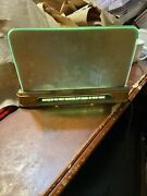Vintage Rare Brass Counter Top Light Up Made By Parker Brothers Inc Union Made