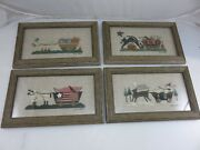 Completed Christmas Halloween Easter 4th Of July Cross Stitch Framed Picture Set