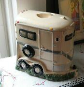 Montana Lifestyles Horse Trailer Cookie Jar, Horse Chip Cookies, Large-11x11x7