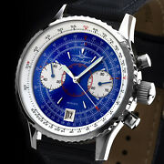 Blue Angels Flieger Chronograph Watch Aviator Watch Poljot 3133 Russia