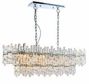 Ceiling Pendant Light - Chrome Plate And Clear Glass - 12 X 40w E14 - Dimmable